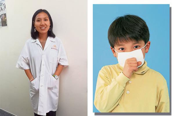 彭婉君营养师表示,若生病了就得戴上口罩,避免传染给别人。