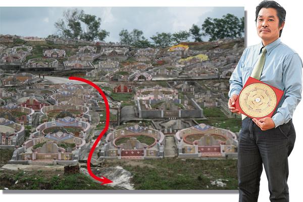 """姚明辉师父透露,若祖先坟墓有""""卯""""方河水流过,将会造成沐浴桃花位,产生阴阳不协调,后代子孙风流本性。"""