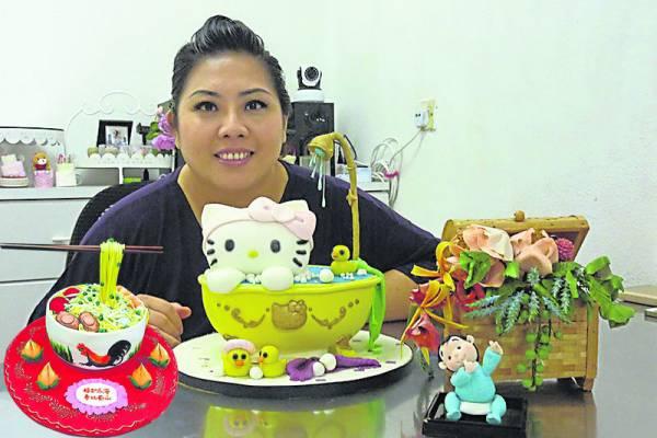 蛋糕达人刘慧倩对于烘焙的热忱,反映在她对蛋糕造型研究。