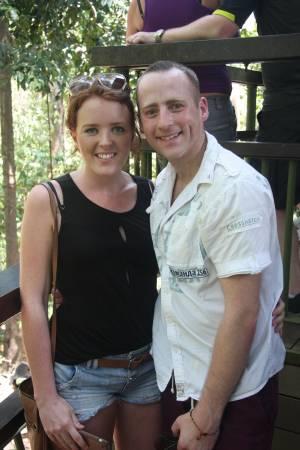 来自英国游客Kristy与男友Martin