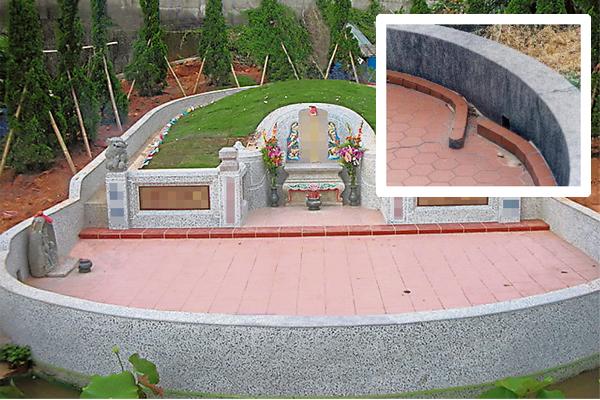 祖坟拜台前的退水口位置若不对,导致健康财富两失,只有修正退水口才能稳定整个风水布局。