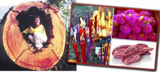 妙婵师太表示,拜山神的供品不能马虎,一定要带山神爱吃的羊肉,另外还有发糕、水果和香烛。