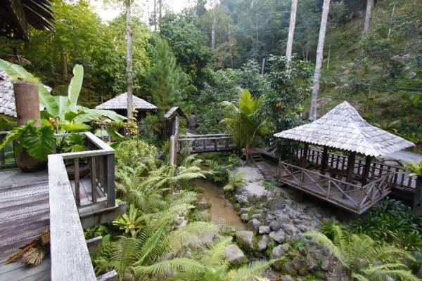 这里的设计讲求回归自然,感觉像置身于峇厘岛某个恬静的度假村内。