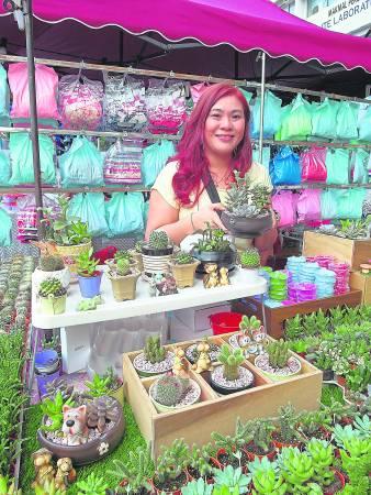 Tracy 一手经营的盆栽生意除了卖盆栽,还卖Tracy 的心思与创意。