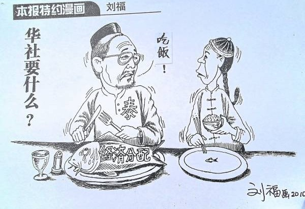 如今,刘福常在报章上发表时事评论漫画。