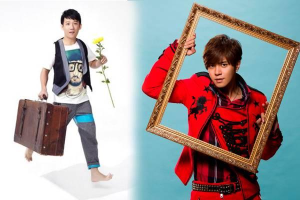 """台湾艺人罗志祥有个乳名叫""""小猪""""(右),而本地艺人陈庆祥(左),粉丝叫他""""阿牛""""多过叫他的本名。"""