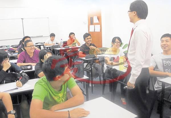 见到每个学生脸上的笑容,证明了学生来这里补习充满乐趣,绝对不是件苦差。
