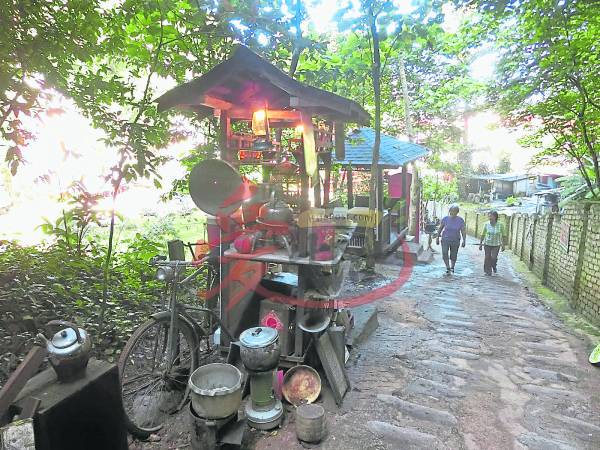 :在怡保清心岭休闲文化村内,设有一些古意走道,让长辈能够回味旧时。
