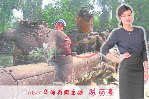 :踏入吴哥王城,放眼观望,都是历经千年风沙磨砺之后的沧桑,连断头佛像也是奇景之一。