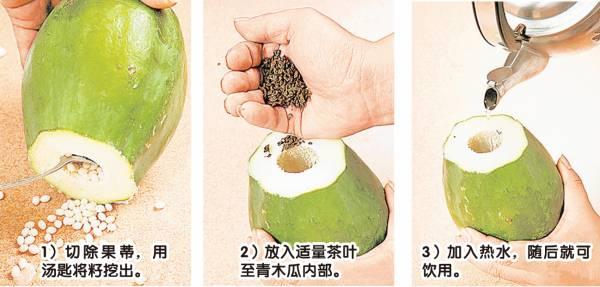 青木瓜泡茶制作过程。