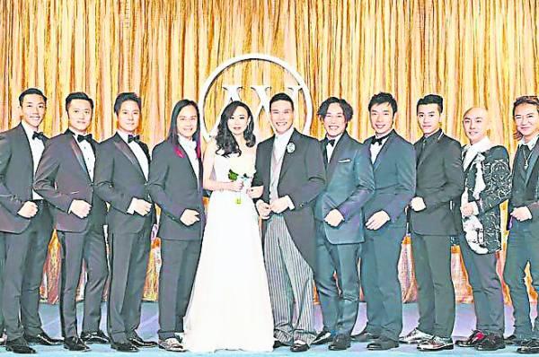 2014年苏永康再婚,伴郎团星光熠熠。
