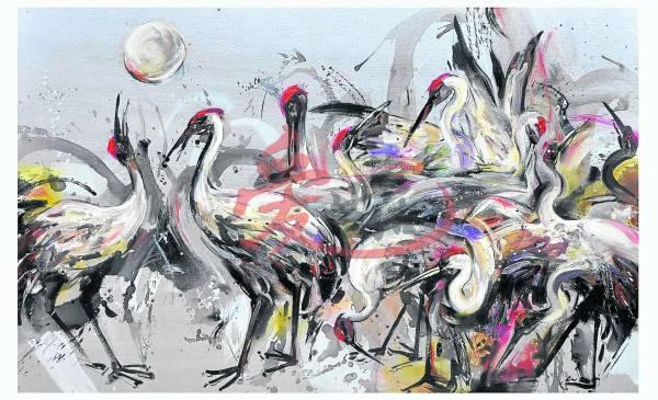 灵气之鹤,是日本大阪之旅启发的灵感。