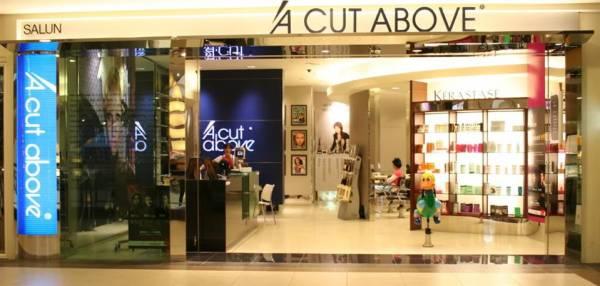 """设在购物商场的""""A Cut Above"""",客源不断,成功打响知名度。"""