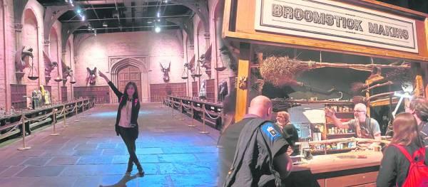 作为哈利波特忠实粉丝,在哈利波特制片工厂遇到什么东西,都会看半天研究半天,不错过感受电影场景难得机会。