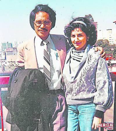 罗美智与丈夫蔡福教在巴西圣保罗初相识时留影。