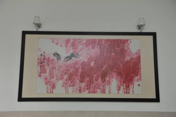 """30万名画:这幅名为""""万紫千红""""的名画,当年高先生花马币10万购得,如今已升值至30万令吉!"""