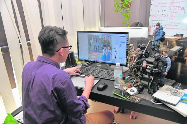 只要一部电脑,Fei Giap就能创作。
