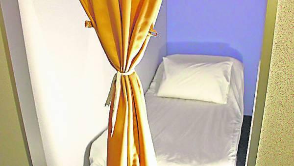 房间的规格简单舒适,让人有种放松的感觉。