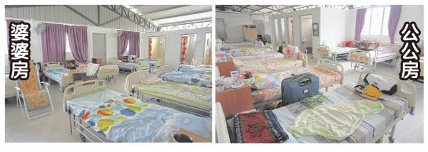 目前中心住着28名老人,叶丽娟女士细心的为男女老人安排分开睡。