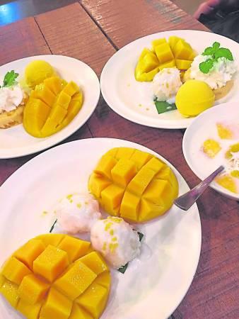 来曼谷必吃Mango Tango 的甜品。