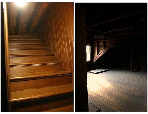 温彻斯特神秘屋里有些楼梯有进无出,要不然就是有出无进。有的门打开后看到的则是冷冰冰的墙壁。