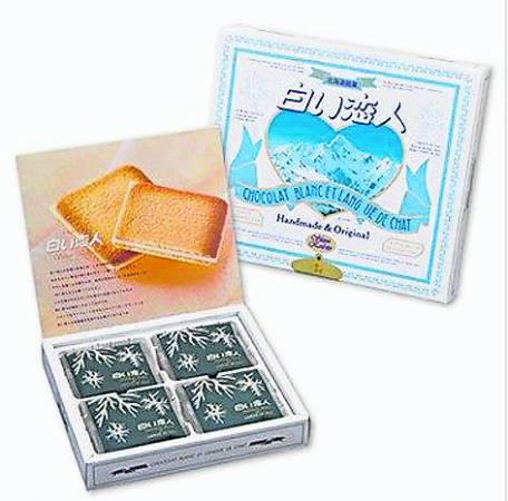 在北海道买手信,肯定少不了白色恋人巧克力饼。