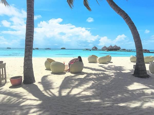 马尔代夫的静与美,让游客留下深刻印象。