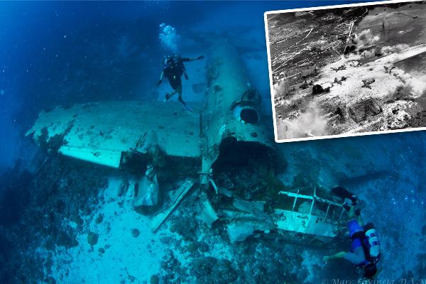 """1944年,美国发起""""冰雹行动"""",连续炮击日本军队3天,被称为""""日版珍珠港""""。那次袭击歼灭的60艘舰艇和275架飞机全部沉入泻湖底部,因而成就了今天世界上最大的沉船墓地。"""