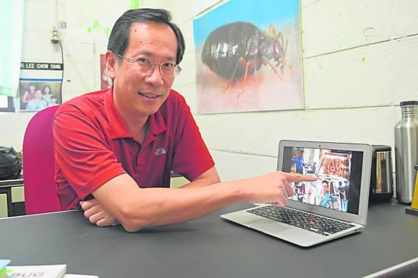 李昭扬鼓励人们吃昆虫替代吃肉。