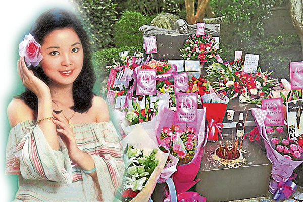每一年,四面八方的歌迷都会到邓丽君坟墓悼念。