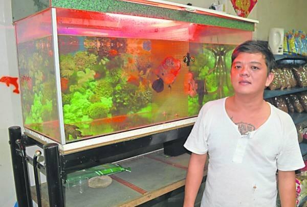杨汉民把养鱼变成事业,不管面对种种因素的冲击,依然坚守岗位。