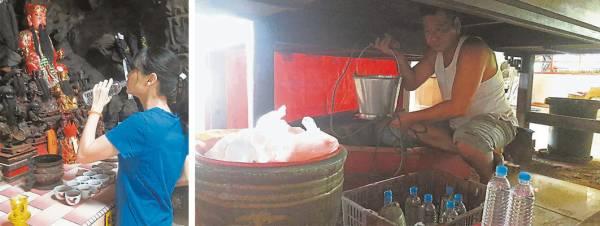 庙堂中央有一座隐蔽在神桌底下,深不见底的水井,据说是法主公钦点的八卦圣水,有祛邪除病,消灾补运的效果。