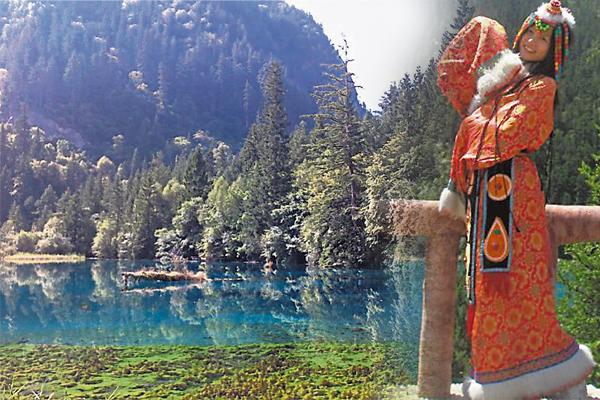 被誉为人间仙境的九寨沟,有着无比美妙的山水风光。
