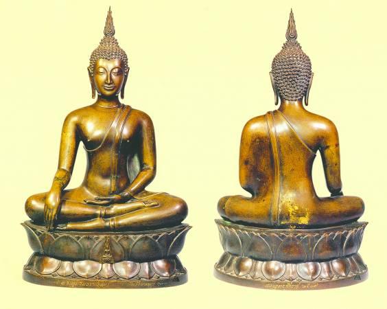 1968泰王用自己的头发铸造逾70尊的皇气佛像,并在佛像背后贴上金箔,而这些佛像都被列为国宝级,若有人售卖便是犯了死刑。