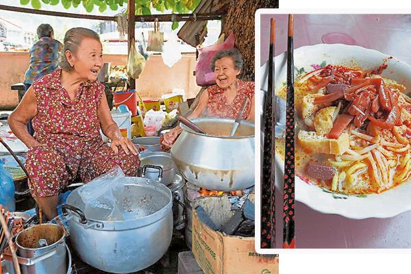 林桂来(左)和林桂香(右)憨厚可掬的笑容,让人倍感亲切。