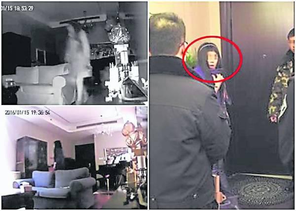 赵泳鑫家闭路电视拍到的画面。