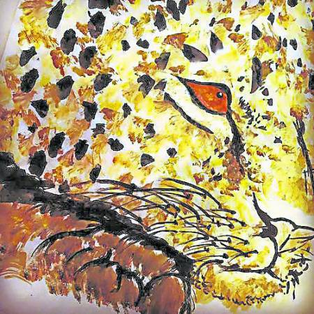 许玮宁她的作品主要以动物居多,曾经为了画画一站就站了三个小时。