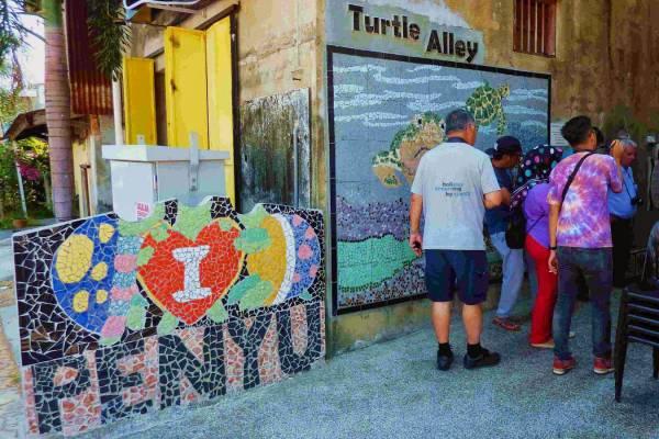登嘉楼海龟巷位于Waterfront的出入口,如今已成为旅游景点。