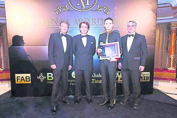 拿督吴承澔医生获阿拉伯联合酋长国国际大奖-2015年度最佳企业总裁大奖。