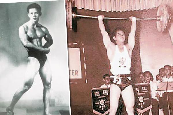 伍潮胜于1963年至1973年期间,连续10年都是我国举重锦标赛60公斤级别的金牌得主,图为伍潮胜年轻时比赛的英姿。