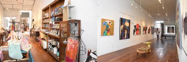 老板特辟场地给本地画家展示作品,而画廊的另一头更有着玲琅满目的艺术品贩卖区,售卖一些本地设计师设计的艺术物品,让顾客能做纪念。