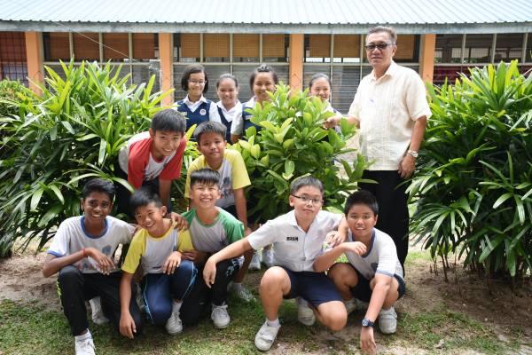 新咖啡山华小也善用空地,在校园里种植了10棵咖啡树。