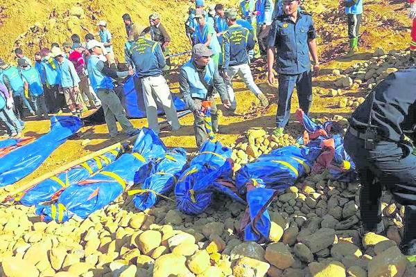 去年十一月发生山泻意外,造成百多名矿工丧生。