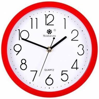 红边时钟有稳定气场兼聚财的作用。