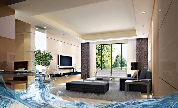 风水学主张阳宅要藏风聚气,气场流动温顺,而地下积水的屋宅会造成宅内气场变得不祥和,影响家人的健康。