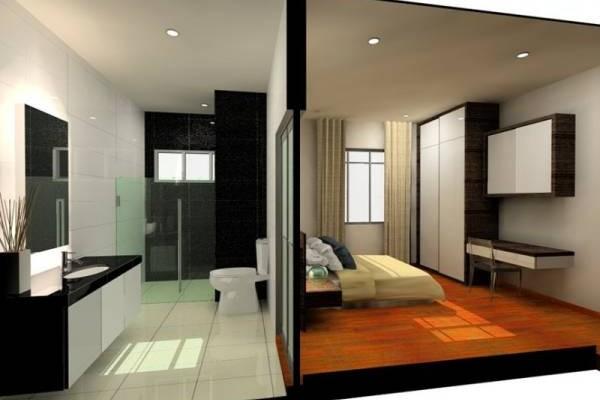 睡房后方是厕所,厕所散发出来的秽气与湿气不仅影响健康,在感情路上还会比较容易受骗。