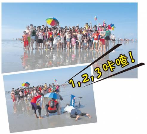 船夫辛苦趴在沙滩上为旅客拍下一辑漂亮的照片。 沙沙兰天空之镜 联络号码:Allen 016-335 5028 / Ms Chan 016-206 5028 面子书:Sasaran Sky Mirror Services 玻利维亚号#天空之镜