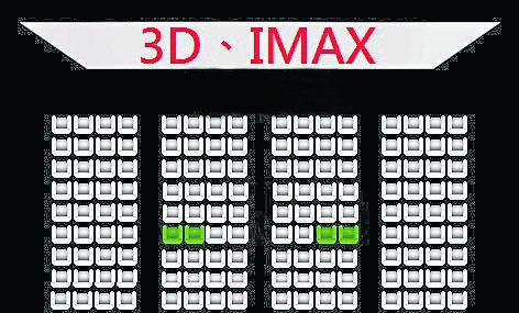 看电影的最佳坐位是离荧幕2/3的那排椅子,胥视电影院大小而定。