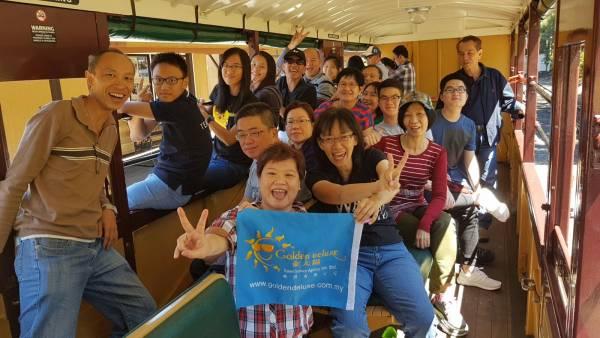 Ella和团友乘坐澳洲最古老的普分比利(Puffing Billy)蒸汽火车,另有一番体味。