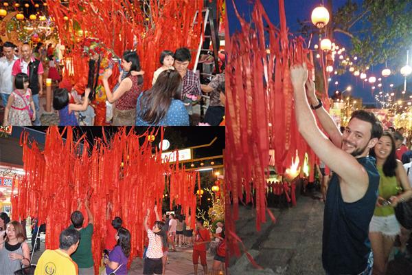 每逢新年,三圣宫都会热闹非凡,不仅有许多游客前来,在彩带上写下愿望,并挂在开过光的树上,愿望就会成真。